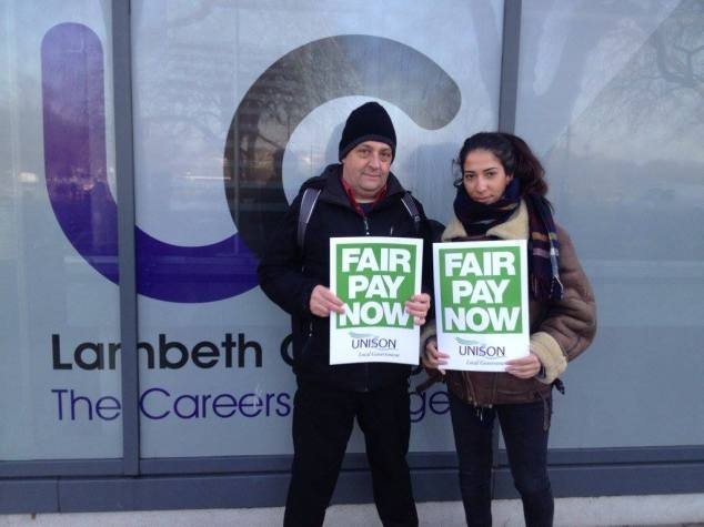 FE strike 24 February Lambeth College 2