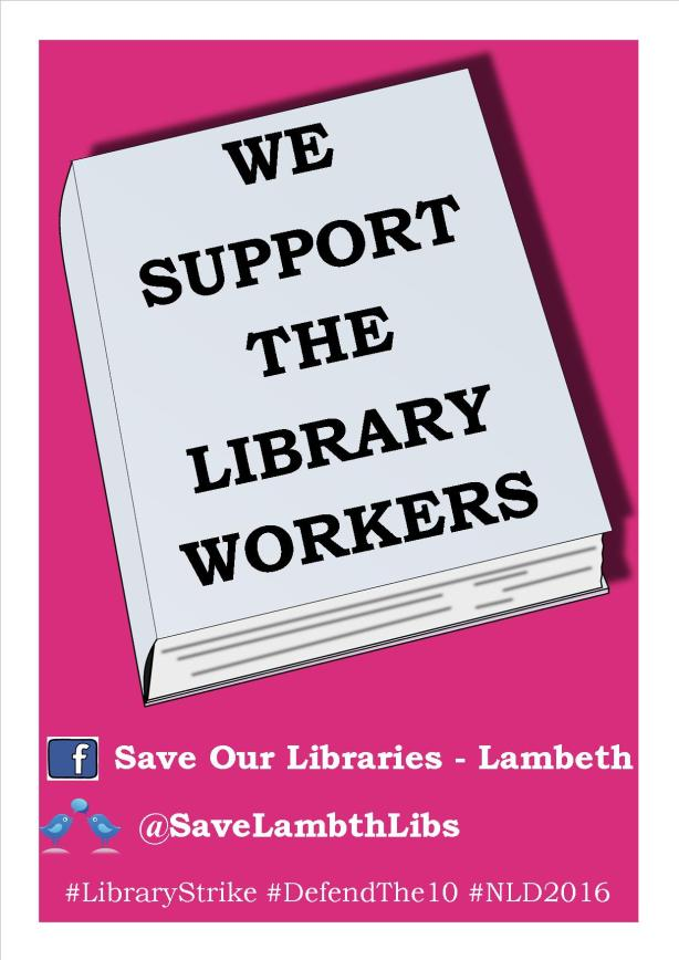 we support lambeth librarians