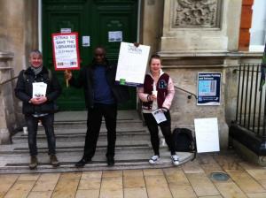 Lambeth strike march 2016 Alex Wheatle