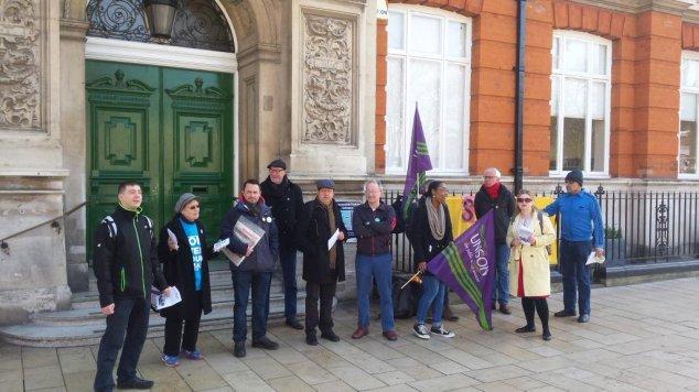 Lambeth strike march 2016 Brixton