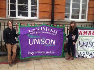 Lambeth strike march 2016 Lewisham