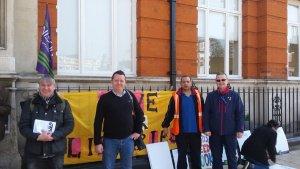Lambeth strike march 2016 tube support