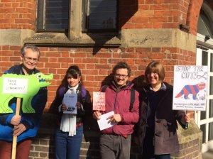 Lambeth strike march 2016 Upper Norwood